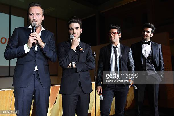 Francesco Facchinetti Gianluca Ginoble Ignazio Boschetto and Piero Barone attend Gala Telethon during the 9th Rome Film Festival at Auditorium Parco...