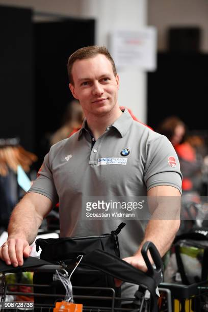 Francesco Friedrich looks on during the 2018 PyeongChang Olympic Games German Team kit handover at Postpalast on January 22 2018 in Munich Germany