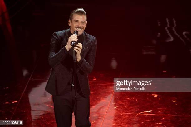 Francesco Gabbani at the second evening of the 70 Sanremo Music Festival Sanremo February 5th 2020