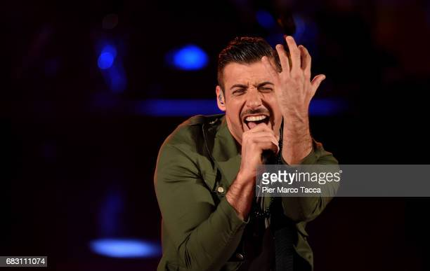 Francesco Gabbani attends 'Che Tempo Che Fa' tv show at Rai Milan Studios on May 14 2017 in Milan Italy