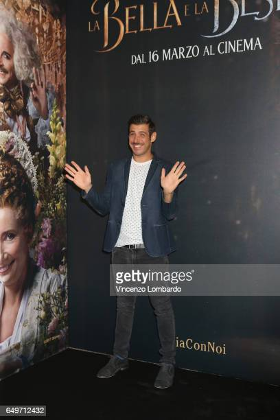 Francesco Gabbani attends 'La Bella E La Bestia' premiere on March 8 2017 in Milan Italy