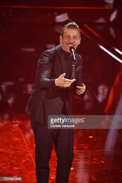 Francesco Gabbani attends the 70° Festival di Sanremo at Teatro Ariston on February 05 2020 in Sanremo Italy