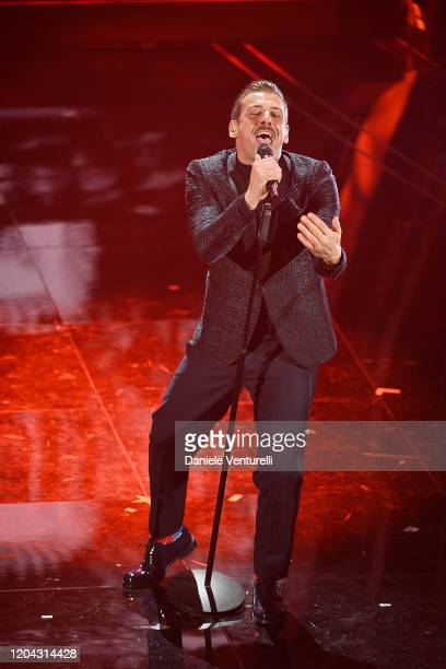 Francesco Gabbani attends the 70° Festival di Sanremo at Teatro Ariston on February 05 2020 in Sanremo Italy