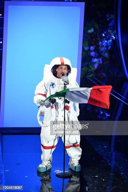 Francesco Gabbani attends the 70° Festival di Sanremo at Teatro Ariston on February 06 2020 in Sanremo Italy