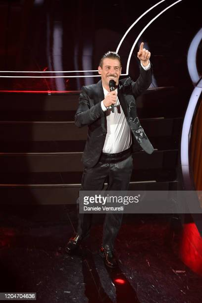 Francesco Gabbani attends the 70° Festival di Sanremo at Teatro Ariston on February 07 2020 in Sanremo Italy
