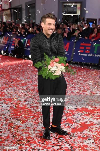 Francesco Gabbani attends the opening red carpet at the 70° Festival di Sanremo at Teatro Ariston on February 03 2020 in Sanremo Italy