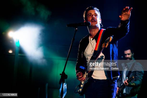 Francesco Gabbani performs in concert at Auditorium Parco Della Musica on May 1 2020 in Rome Italy
