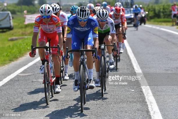 Francesco Gavazzi of Italy and Team Androni Giocattoli - Sidermec / Eros Capecchi of Italy and Team Deceuninck - Quick-Step / Danilo Wyss of...