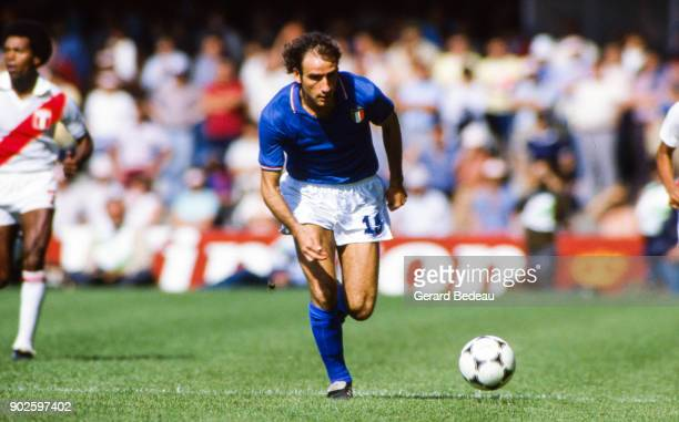 Francesco Graziani of Italy during the World Cup match between Italy and Peru at Balaidos Stadium Vigo Spain on 18h June 1982