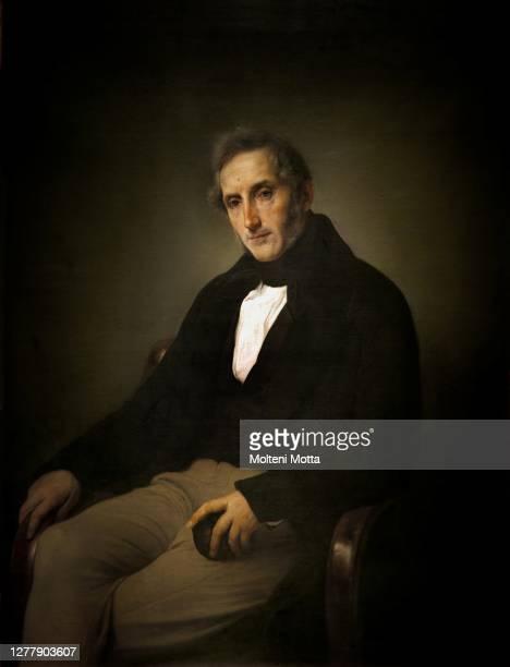 Francesco Hayez. 1791-1882. Portrait of Alessandro Manzoni. 1874. Oil painting on canvas cm 103 x 80.5.