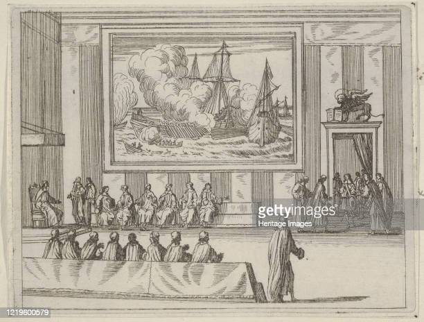 Francesco I d'Este Presents Himself with Warmth and Humility with Representatives of the Republic of Venice and the Duke of Savoy from L'Idea di un...