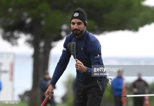 Francesco Laporta of Italy reacts to winning the Challenge Tour Grand Final during day 4 of the Challenge Tour Grand Final at Club de Golf Alcanada...