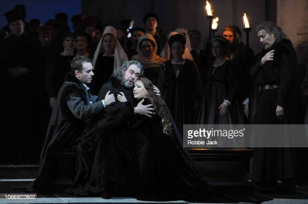 Francesco Meli as Gabriele Adorno Carlos Alvarez as Simon BoccanegraHrachuhi Bassenz as Amelia Grimaldi and Ferruccio Ferlanetto as Jacopo Fiesco in...