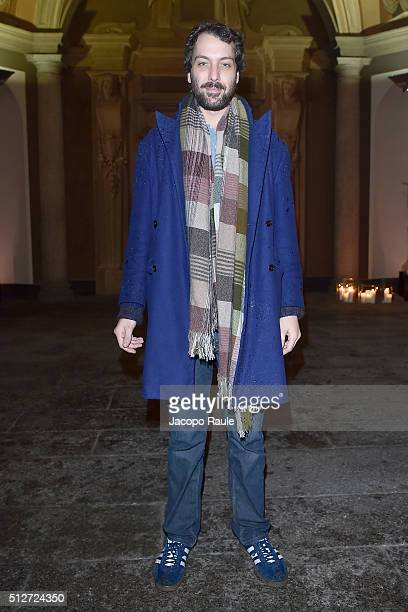 Francesco Missoni Maccapani attends Vogue Cocktail Party honoring photographer Mario Testino on February 27 2016 in Milan Italy