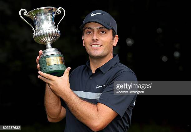 Francesco Molinari of Italy celebrates with the trophy after winning the Italian Open at Golf Club Milano Parco Reale di Monza on September 18 2016...