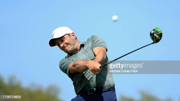 Francesco Molinari of Italy hits his drive on the eighth hole during The Open Qualifying Series part of the Arnold Palmer Invitational at Bay Hill...