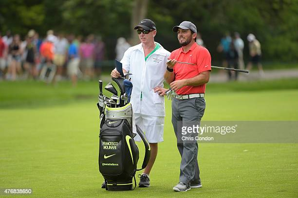 Francesco Molinari of Italy plays from the second fairway during the final round of the Memorial Tournament presented by Nationwide at Muirfield...