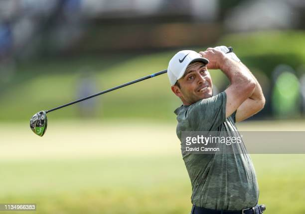 Francesco Molinari of Italy plays his tee shot on the par 4 18th hole during the final round of the 2019 Arnold Palmer Invitational at the Arnold...