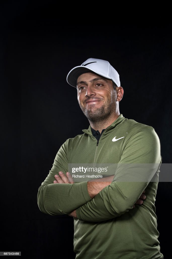 Francesco Molinari of Italy poses for a portrait during a practise round for the BMW PGA Championship at Wentworth on May 23, 2017 in Virginia Water, England.