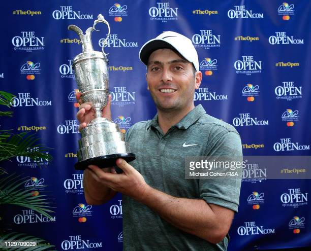 Francesco Molinari of Italy the 2018 Champion Golfer of the Year poses with the Claret Jug during The Open Qualifying Series part of the Arnold...