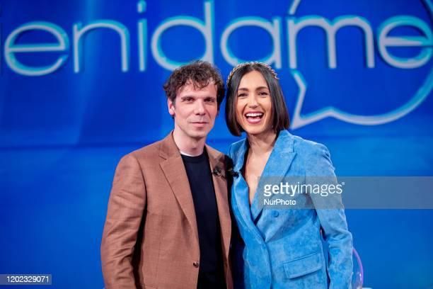 Francesco Monntanari and Caterina Balivo attend 'Vieni da Me' the TV show of Caterina Balivo that turns 40