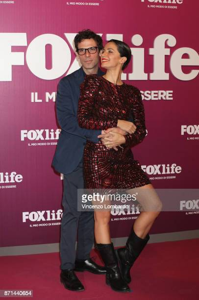 Francesco Montanari and Andrea Delogu attend Foxlife Official Night Out on November 7 2017 in Milan Italy