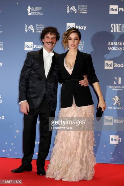 Francesco Montanari and Andrea Delogu attend the 64 David Di Donatello awards on March 27 2019 in Rome Italy
