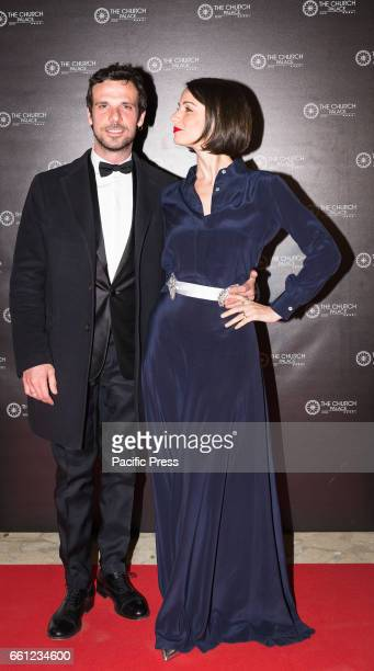 Francesco Montanari and Andrea Delogu on the Red Carpet for the premiere of 'Ovunque Tu Sarai'