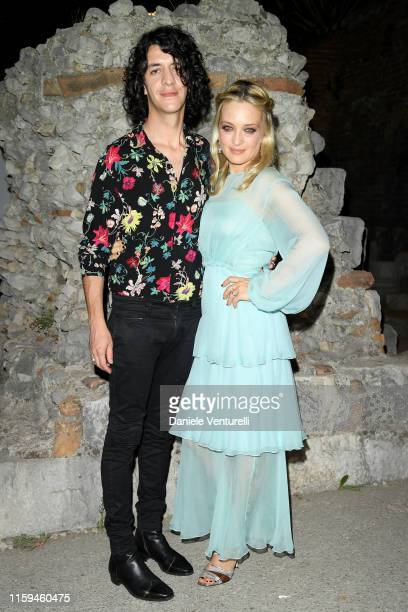 Francesco Motta and Carolina Crescentini attend the 65th Taormina Film Fest Cocktail at Hotel Metropole on July 01 2019 in Taormina Italy