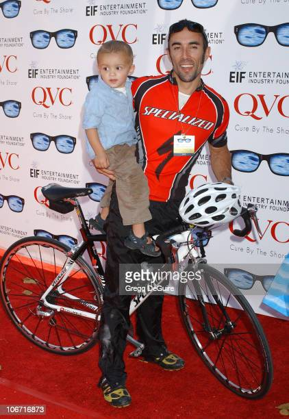 Francesco Quinn and son Max during 7th Annual 'QVC's Cure By The Shore' Partnered with Entertainment Industry Foundation Arrivals and Inside at...