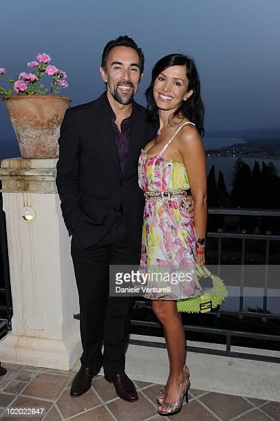 Francesco Quinn and Valentina Castellani Quinn attend the Taormina Film Fest 2010 Opening Ceremony on June 12 2010 in Taormina Italy