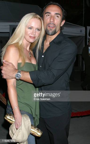 Francesco Quinn and wife Julie during 'Vlad' Los Angeles Premiere Arrivals at The ArcLight in Los Angeles California United States