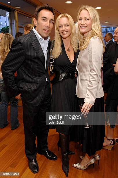 Francesco Quinn Julie Quinn and Sarah Wynter during Cocktail Reception for 'Cinema Italian Style' at 201 N Rodeo Drive in Beverly Hills California...
