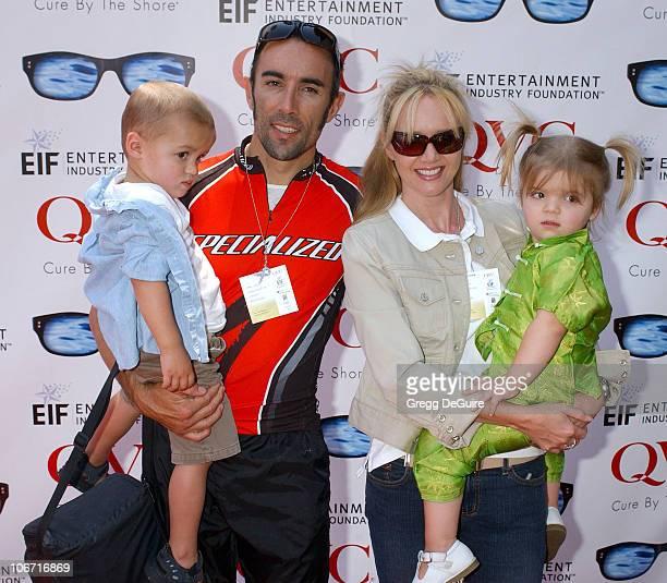 Francesco Quinn wife Julie son Max and daughter Michela