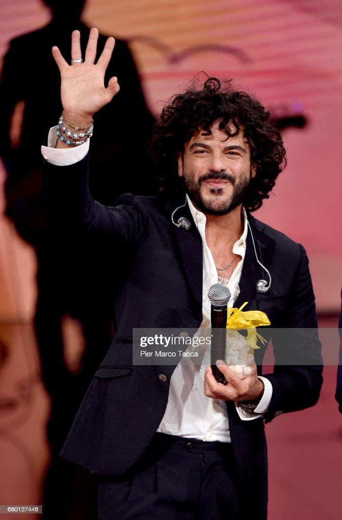 Francesco Renga attends 'Che Tempo Che Fa' tv show at Rai Milan Studios on May 7, 2017 in Milan, Italy.