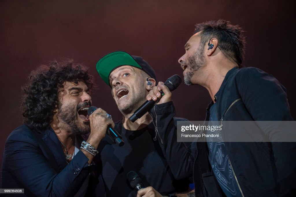 Nek, Max Pezzali And Francesco Renga Perform At Lucca Summer Festival