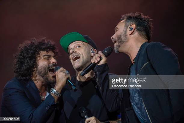 Nek of MNR performs on stage during Lucca Summer Festival at Piazza Napoleone on July 14 2018 in Lucca Italy
