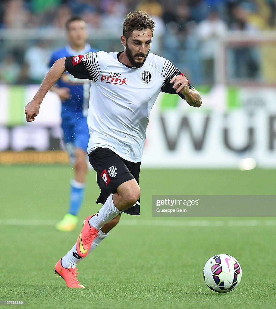 Francesco Renzetti of Cesena in action during the Serie A ...