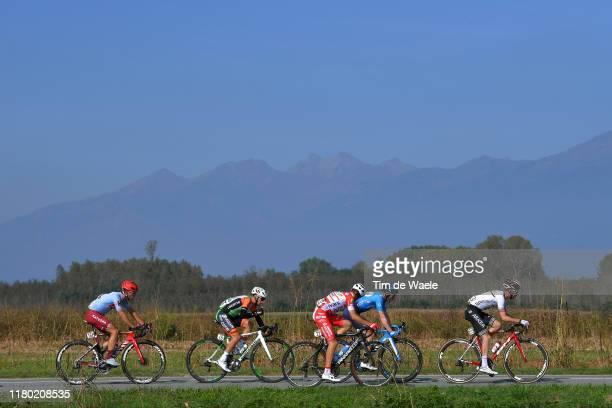 Francesco Romano of Italy and Team Bardiani CSF / Enrico Battaglin of Italy and Team Katusha Alpecin / Carlos Barbero of Spain and Movistar Team /...