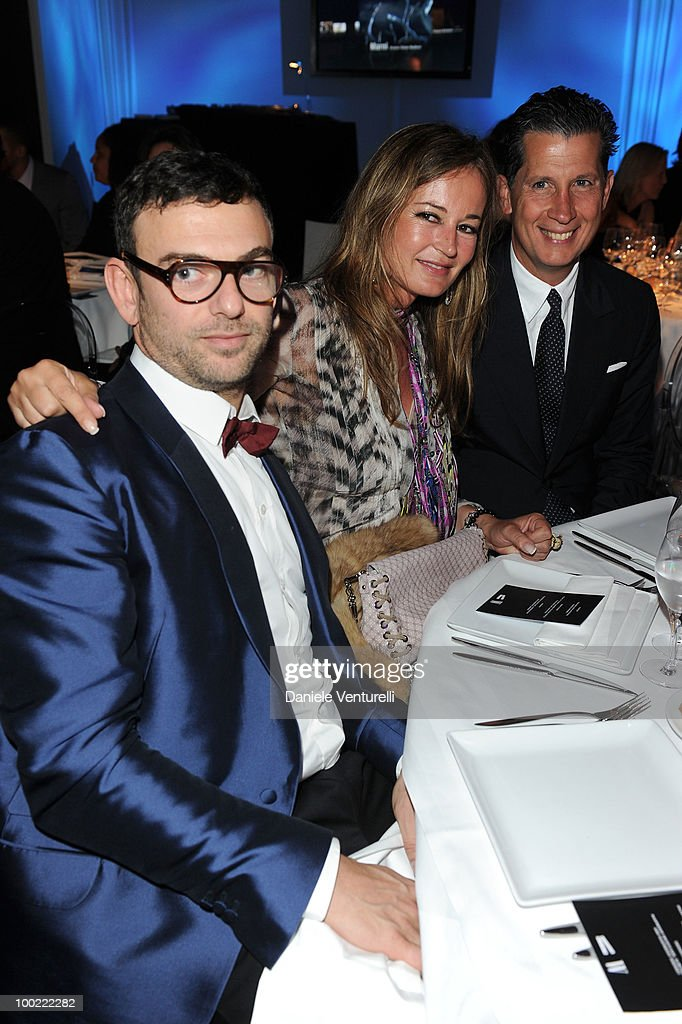 Francesco Russo, Eva Cavalli and Stefano Tonchi attend the Style Star Party at Carlton Beach during the 63rd Annual International Cannes Film Festival on May 21, 2010 in Cannes, France.