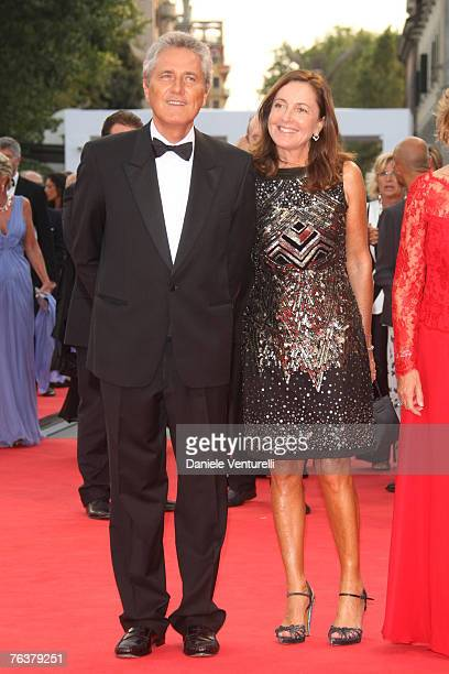 Francesco Rutelli and Barbara Palombelli arrives for the Opening Ceremony and the Atonement Premiere at the 64th Annual Venice Film Festival on...