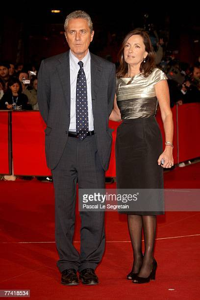 Francesco Rutelli and Barbara Palombelli attend 'Elizabeth The Golden Age' Premiere during day 2 of the 2nd Rome Film Festival on October 19 2007 in...