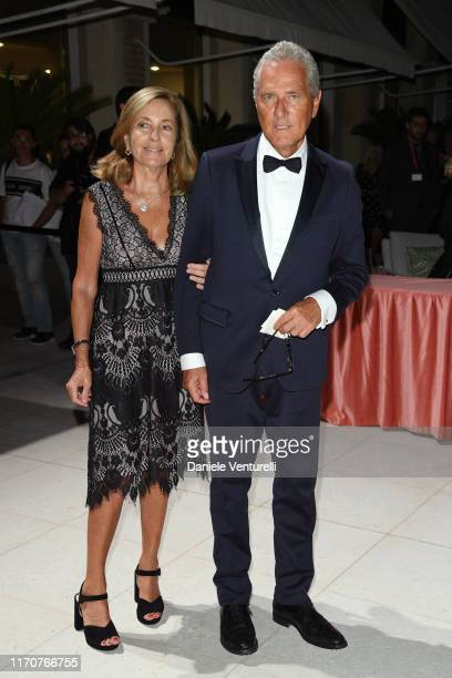 Francesco Rutelli and Barbara Palombelli attend the opening ceremony dinner during the 76th Venice Film Festival at Excelsior Hotel on August 28 2019...