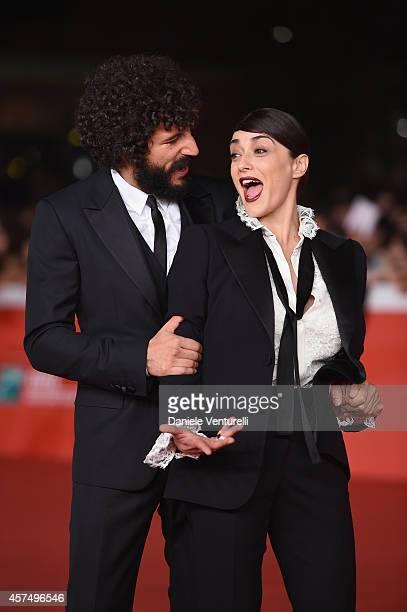 ROME ITALY OCTOBER 19 Francesco Scianna and Valentina Lodovini attend 'I Milionari' Red Carpet during the 9th Rome Film Festival at Auditorium Parco...