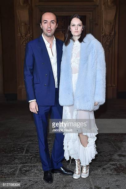 francesco Scongnamiglio attends Vogue Cocktail Party honoring photographer Mario Testino on February 27 2016 in Milan Italy