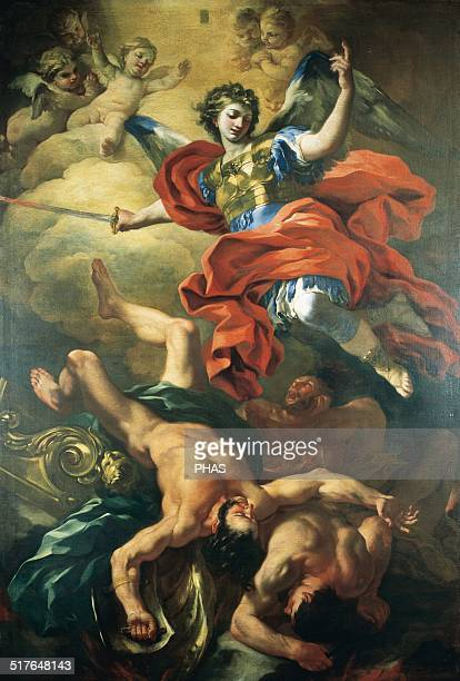 Francesco Solimena Italian painter The Archangel Michael defeating the Giants 1690 Church of Saint George Salerno Italy