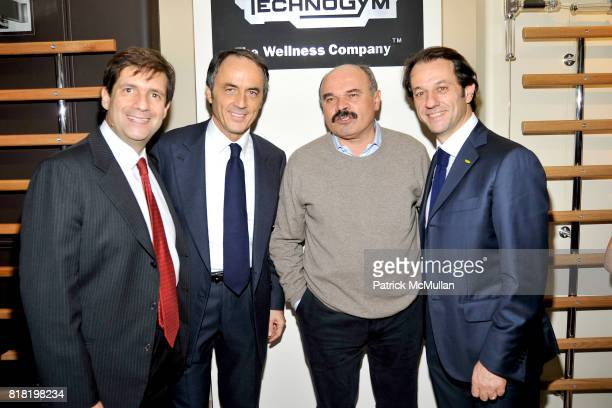 Francesco Talo Nerio Alessandri Oscar Farinetti and Pierluigi Alessandri attend Technogym US Showroom Launch Event at 70 Greene St on November 16...