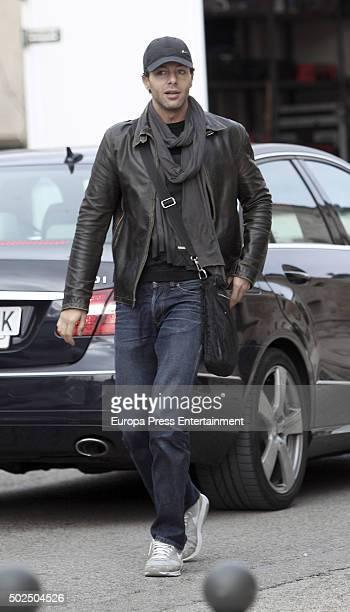 Francesco Testi is seen during the set filming of 'Galerias Velvet' on December 14 2015 in Madrid Spain