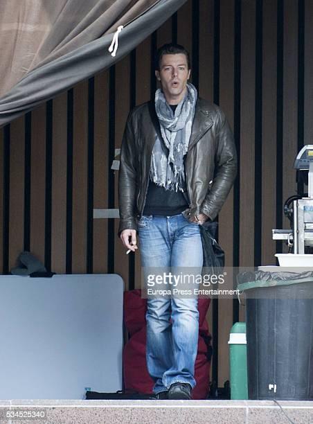 Francesco Testi is seen during the set filming of 'Galerias Velvet' on April 14 2016 in Madrid Spain