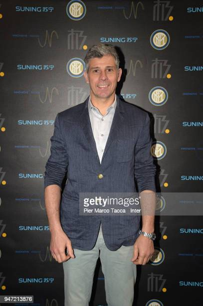 Francesco Toldo attends the unveiling of FC Internazionale 'Innovative Passion' Concept At Milan Design Week on April 16 2018 in Milan Italy